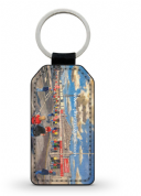pittodrie going to the match PU Leather Keyring Printed Both Sides (1)